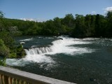 These are the falls you always see in National Geographic films where the bears are eating jumping salmon, no bears now
