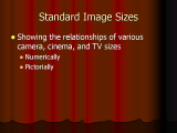 Information about Digital Image Sizes