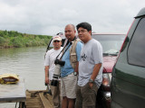 SHINY-HEADED BIRDSHOOTER. While crossing the Cagayan river, I chat with our hosts Aloy (right) and Glen (left), both of Conservation International.