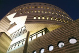 Botta building at night