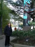 Julie outside Ivar's Salmon House