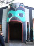 Front door to Ivar's Salmon House