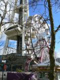Ferris wheel and Space Needle