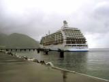 Cruise ship in Roseau