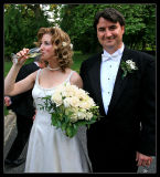 The Groom and the Champagne Bride