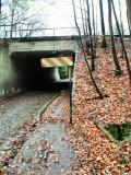 Sous le Ring 0 - Passage souterrain du Molenweg. - Attention à la tête !