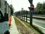 Sous le Ring 0 - Passage souterrain du Molenweg. Interdit dans ce sens... mais pas dans l'autre ! :-(