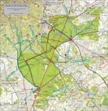 Principaux axes empruntés par les cyclistes quotidiens pour traverser la Forêt de Soignes (GRACQ et Fietsersbond)