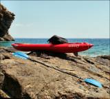 Accessoires principaux : pagaie (220 cm - 1,14 kg), corde flottante, dérive, sandales, sac-à-dos... (suite)