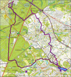Auderghem-Genval-20 km / Lac de Genval-6km / Genval-Auderghem-15km