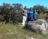 After finding the Iberian Lynx - Sue and Ken Tapp and Cristian Jensen (Right to left)