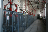 Ställverksrum 1 tr 70 kV - med spår för brytartransport