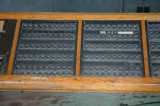Turbinhallens kontrollrum - signalpulpet