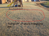 Trampoline Blown Away