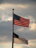 american & christian flag