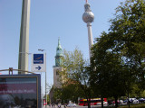 Marienkirche and radio tower Berlin