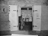 Btry Townsley  test door A open 1943. Shows tool room interior.