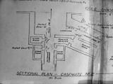 Location of wooden test doors near gun #2, 1943