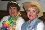 Bonita King (Rt.) attends 1st class function w/Rosie Garlock