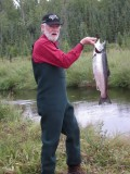 Greetings from Monsarrat, Alaska, & a harvested red salmon...