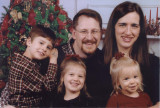 Virginia and her husband Chip Hammond, their children from left to right Nathan, Mary Grace, and Mercy