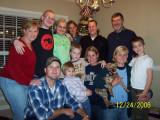 The David Lloyd - Sandra Dodson family on Christmas Eve.