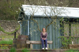 Girl and shed