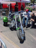 green trike chopper