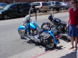 Motorcycles around town