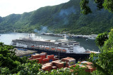 SS Amsterdam in Pago Pago Harbor