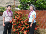 Carmen and Derrick with Ixora plant