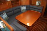 u-shaped settee & dinette to port