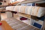 great custom storage behind settee back