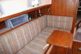 settee w. table to port