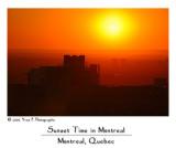 Sunset in Montréal