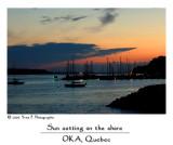 Sun setting on the shore ...