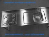 Top con ribasso su misura e vasca Alpes inox saldata - piano cottura - arredo