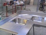 Lavello angolare in acciaio inox - arredo