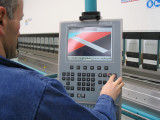 Controllo numerico 3D Modeva sulla nuova pressopiegatrice Vimercati