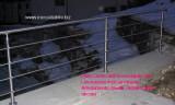 Protezione in tubo  inox  satinato per esterno