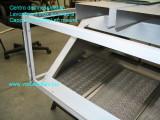 cappa in acciaio inox su misura con filtri - foto con pellicola protettiva