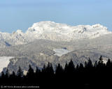 Snow covered mountains as seen from Talus in Issaquah, WA