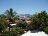 litchi et vue du toit de la maison