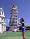 Jackie Supporting Tower of Pisa