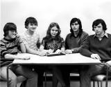 SCS Students Council L-R: John Bauslaugh, John Roxburgh, Diana Johnston, Dave Churchill, and Robbie Kinnear