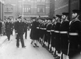 The Duchess of Kent, inspecting the Guard of Honour.