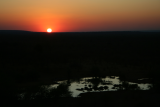 sunset from Victoria Falls Lodge