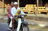 Motorized Indonesian Family: