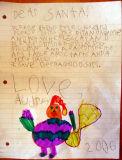 The Santa Letter 2006age 5