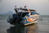 Boat storage during low tide in Krabi